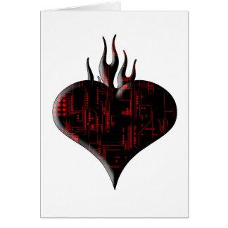 Techno Liebegruß Grußkarte
