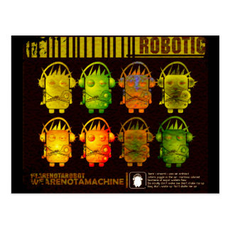 Techno Roboter Postkarten