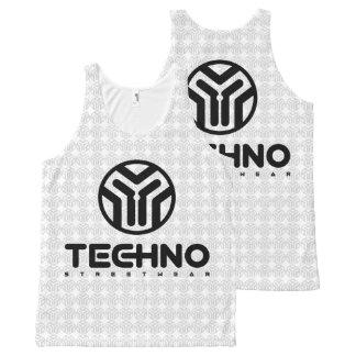 Techno Streetwear - Logo - Trägershirt Komplett Bedrucktes Tanktop