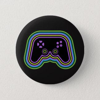 Techno Videospiel-Prüfer Runder Button 5,7 Cm