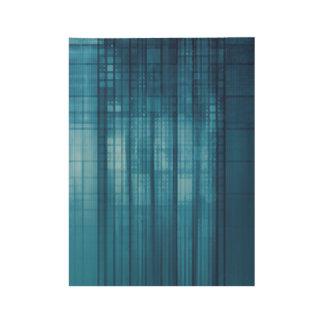 Technologie-Mosaik-Hintergrund als Holzposter
