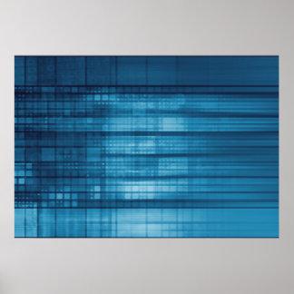 Technologie-Mosaik-Hintergrund als Poster