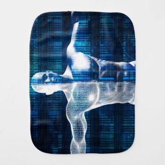 Technologie-Netz über dem Internet und dem Baby Spucktuch