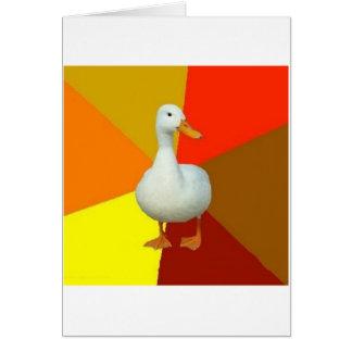 Technologisch gehindertes Enten-Ratetier Meme Grußkarte