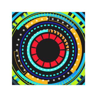 Technologischer Muster-Entwurf Leinwanddruck