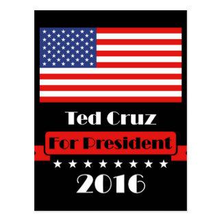 Ted Cruz für Präsidenten 2016 Postkarte