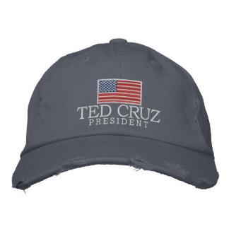 Ted Cruz für Präsidenten mit amerikanischer Flagge Bestickte Baseballmützen