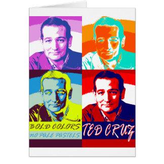Ted Cruz: Mutige Farben, keine blassen Pastelle Karte