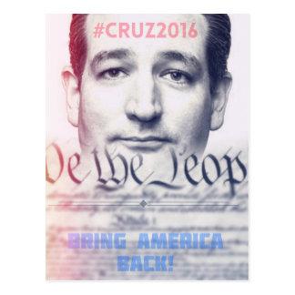 Ted Cruz - wir die Leute Postkarte