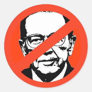 Ted Stevens Runde Sticker