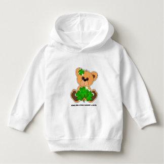 Teddy-Bär mit Kleeblatt-St Patrick TagesHoodie Hoodie