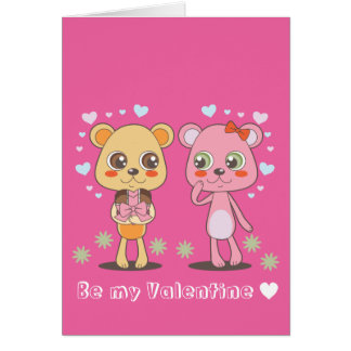 Teddy-Bären in der Liebe Karte