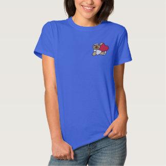 Teddy-Bärn-Krankenschwester gesticktes Shirt Besticktes Damen Polo Shirt