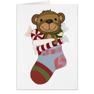 Teddy-Bärn-Strumpf-Gruß-Karte Karte