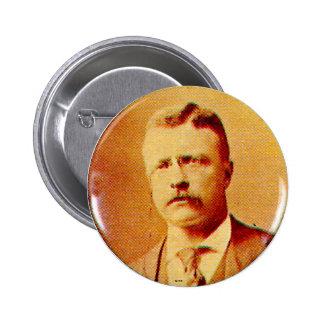 Teddy Roosevelt - Knopf Runder Button 5,7 Cm