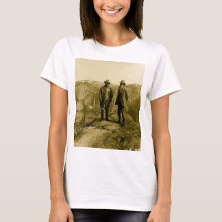 Teddy Roosevelt und John Muir am Gletscher-Punkt T-Shirt