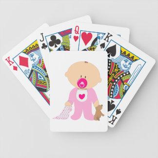 Teddy-Schnuller-Deckenrosa Mädchen des Babys Bicycle Spielkarten