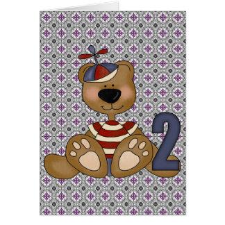 Teddybär-2. Geburtstag Karte