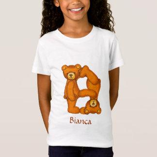 Teddybär-Alphabet Letter~B~Initial Shirt~Custom T-Shirt