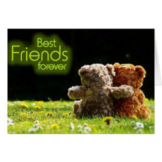 Teddybär-beste Freund-Gruß-Karte Karte