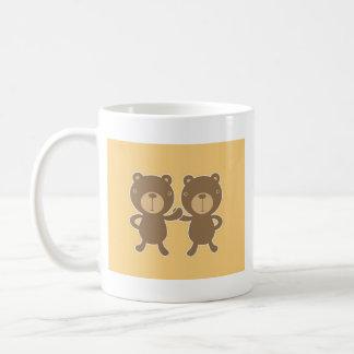 Teddybär betreffen einfaches Pastellgelb Kaffeetasse