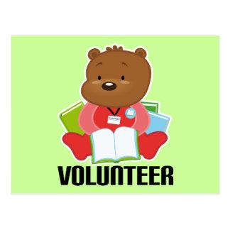 Teddybär-Bibliotheks-Freiwillig-Geschenk Postkarte
