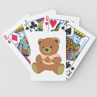 Teddybär Bicycle Spielkarten