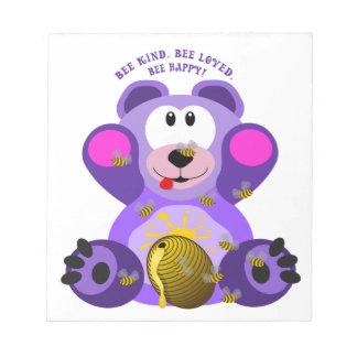 Teddybär-Bienen-nette Biene geliebte Biene Notizblock