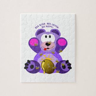 Teddybär-Bienen-nette Biene geliebte Biene Puzzle