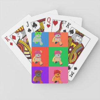 Teddybär-bunte Kunst-Spielkarten Spielkarten