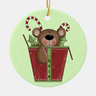 Teddybär - das 1. Weihnachten des Babys Keramik Ornament