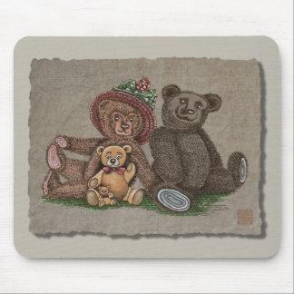 Teddybär-Familie Mousepad