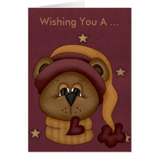 Teddybär-Geburtstags-Karte Karte