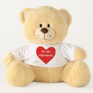 Teddybär - großes rotes Herz - seien Sie mein