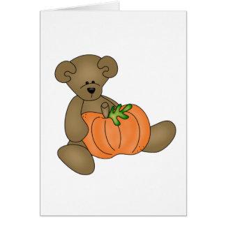 Teddybär Halloween Karte