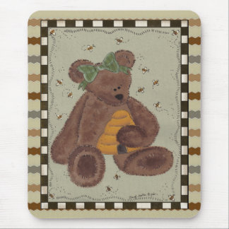 Teddybär-Honig Mousepad