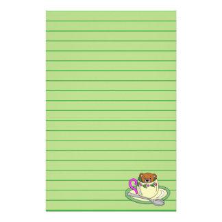 Teddybär in der Tee-Schale Briefpapier