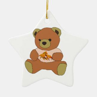 Teddybär Keramik Stern-Ornament