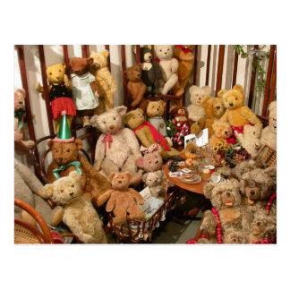Teddybär-Kollektor-Himmel Postkarte