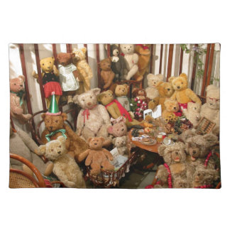 Teddybär-Kollektor-Paradies Stofftischset