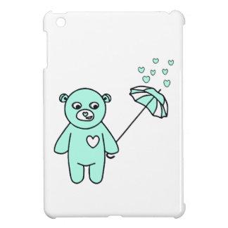 Teddybär mit einem Regenschirm iPad Mini Hülle