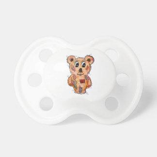 Teddybär mit Flicken Baby Schnuller
