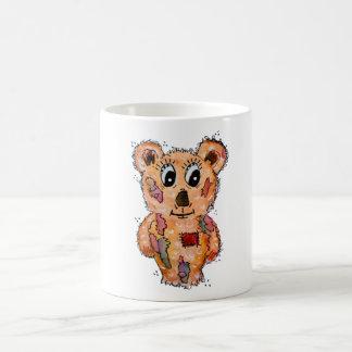 Teddybär mit Flicken Tasse