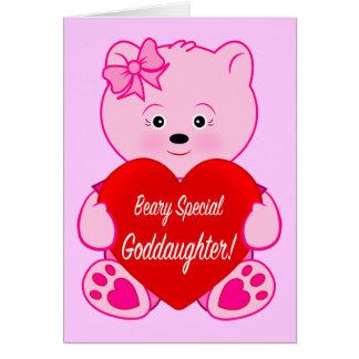 Teddybär mit Herz-Geburtstags-Patenttochter Karte