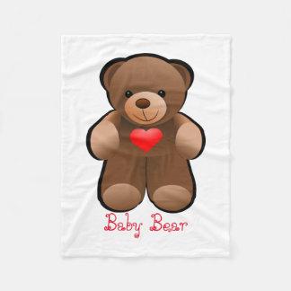 Teddybär mit Herzen Fleecedecke