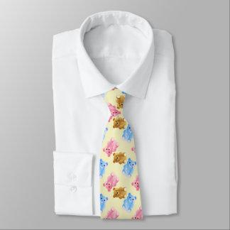 Teddybär-Muster Krawatte