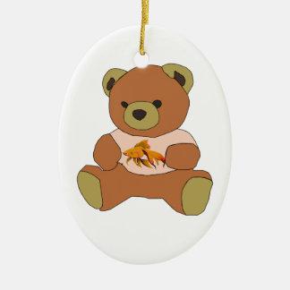 Teddybär Ovales Keramik Ornament