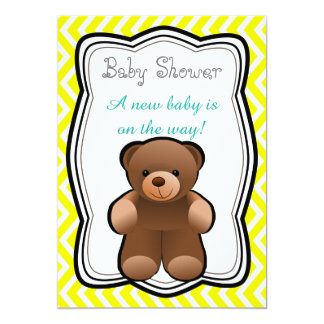 Teddybär-Person-Babyparty 12,7 X 17,8 Cm Einladungskarte