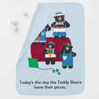 Teddybär-Picknick Kinderwagendecke