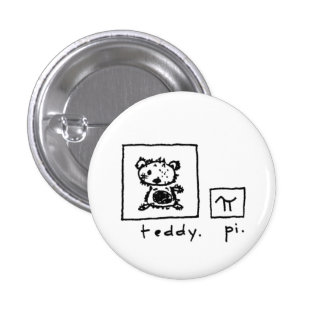 Teddybär + PU Runder Button 2,5 Cm